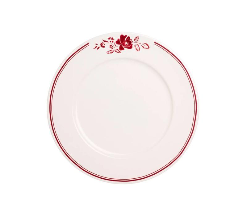 Dépôt d'Argonne Breakfast Plate 23cm Rose, Red
