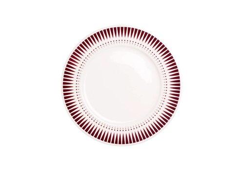 Kom Amsterdam Dépôt d'Argonne Breakfast Plate 23cm Arlequin, Red