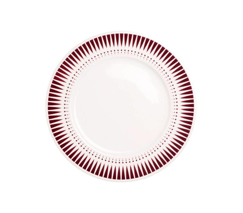 Dépôt d'Argonne Breakfast Plate 23cm Arlequin, Red