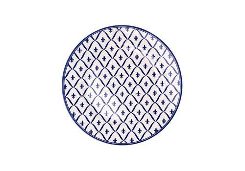 Kom Amsterdam Dépôt d'Argonne Breakfast Plate 23cm Fleur de Lys, Blue