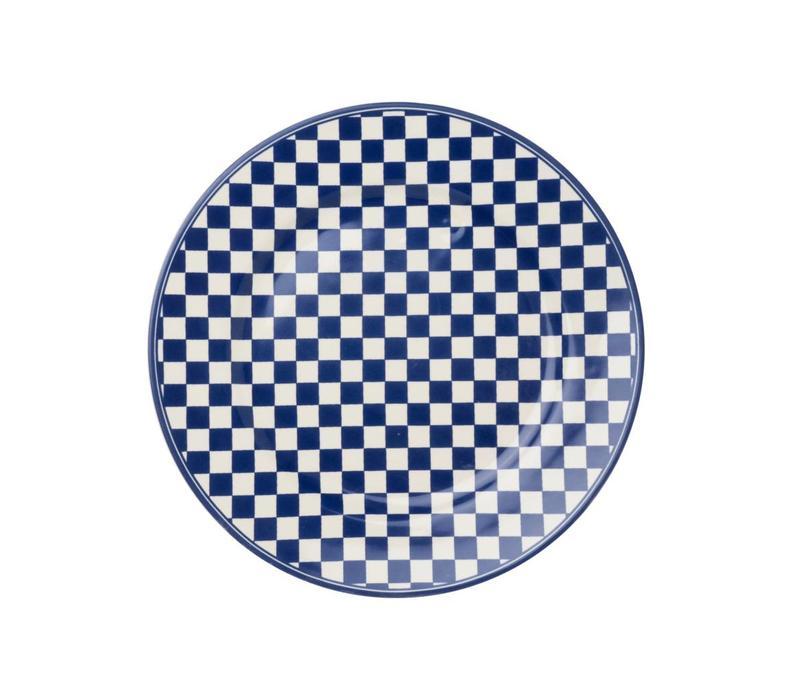 Dépôt d'Argonne Breakfastplate 23cm Damier, Blue