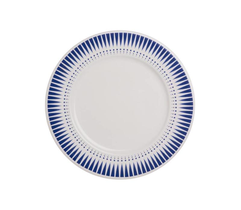 Dépôt d'Argonne Frühstücksteller 23cm Arlequin Blau