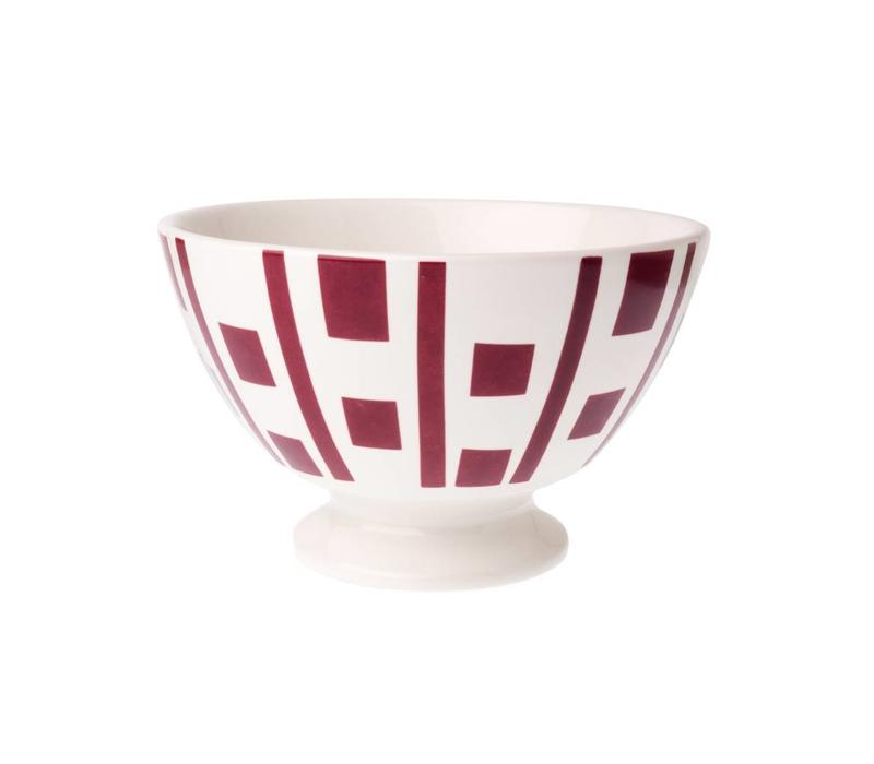 Bowl Medium Carré, Red