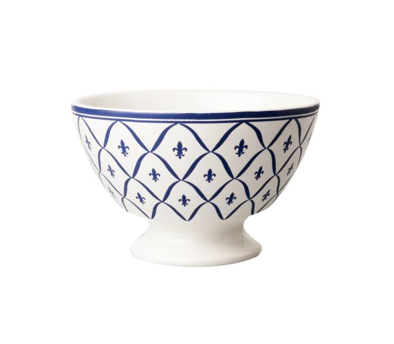 Dépôt d'Argonne Bowl Medium Fleur de Lys Blue NEW