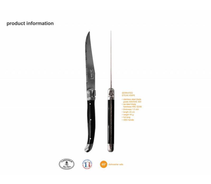 Laguiole 6 Steak Knives 1,2 mm Autumn Mix in Block