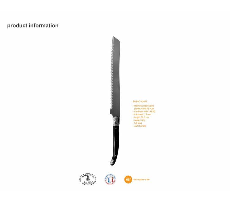 Laguiole Bread Knife Black in Box