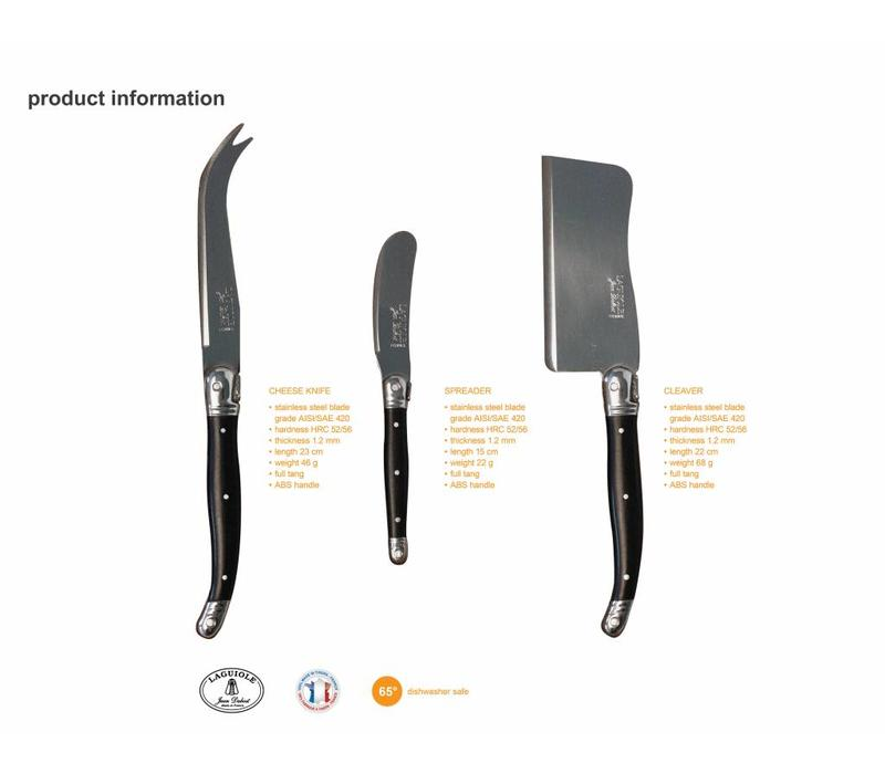Laguiole 3 Cheese Knives Stainless Steel in Display