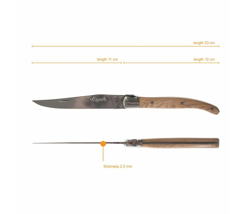 Laguiole 4 Steakmesser 2,5mm Eichenholz in Kiste
