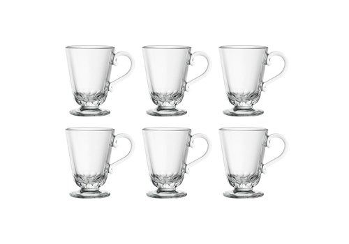Kom Amsterdam Bistrot Set of 6 Tea Glasses 27 cl Blanc