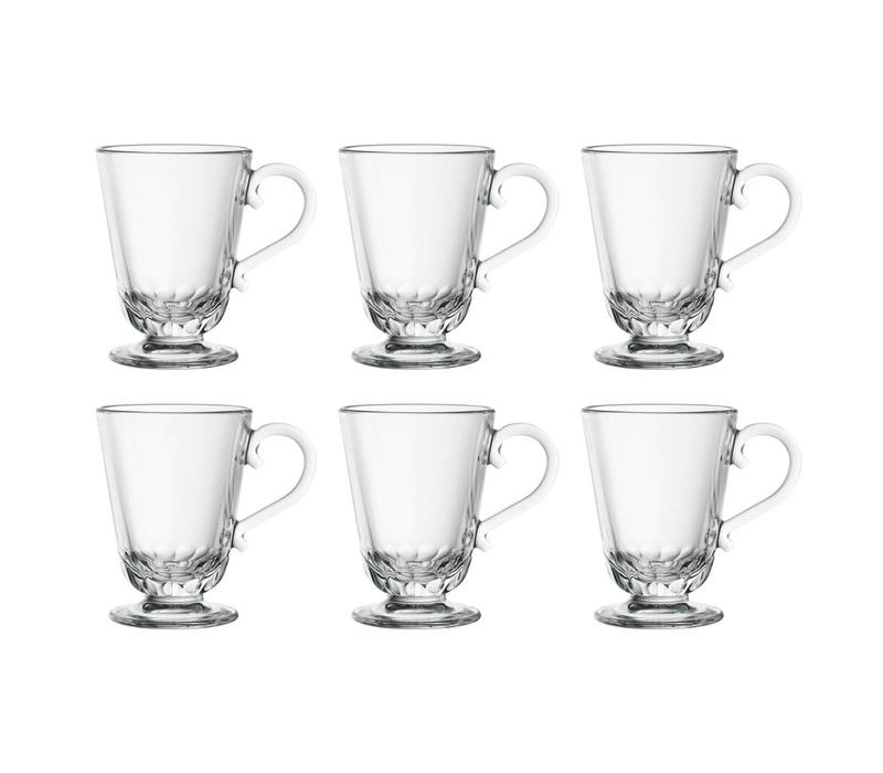 Bistrot Set of 6 Tea Glasses 27 cl Blanc