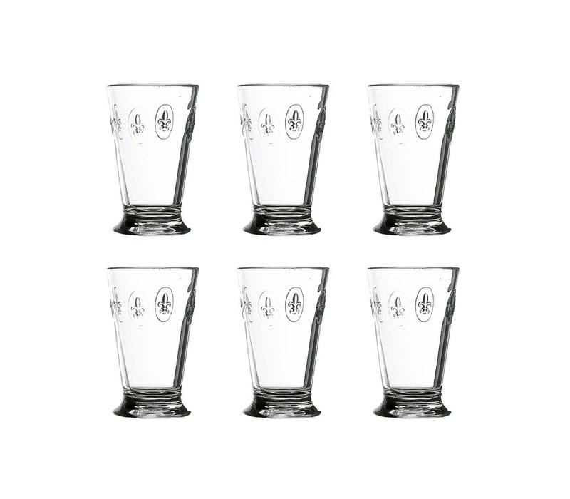 Rochère set of 6 water / latte / long drink glasses 30 cl 'French Lily'
