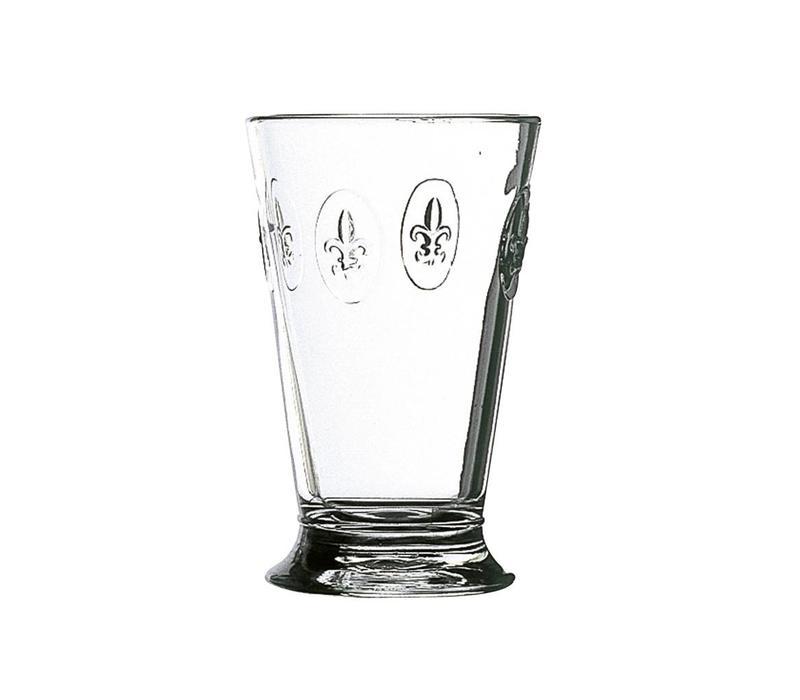 Rochère Set mit 6 Wasser- / Latte- / Longdrinkgläsern 30 cl 'Französische Lilie'