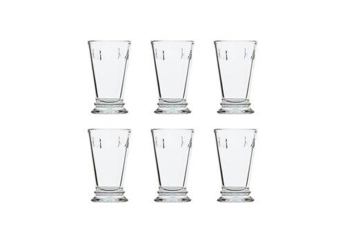 Kom Amsterdam Rochère set 6 water/latte/longdrink glazen 30 cl 'Honingbij'