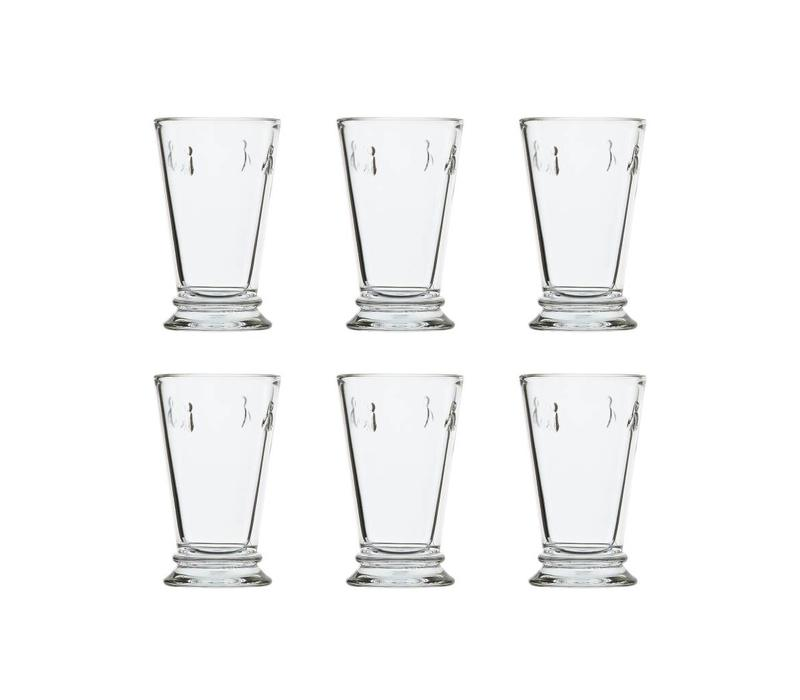 Rochère set of 6 water / latte / long drink glasses 30 cl 'Honey bee'