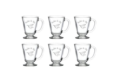 Kom Amsterdam Bistrot Set of 6 Tea Glasses 27cl 'Feuille de The'