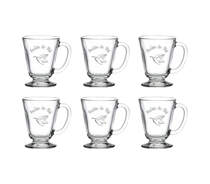 Bistrot Set of 6 Tea Glasses 27cl 'Feuille de The'