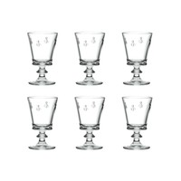 Bistrot Set of 6 Wine Glasses High 24 cl 'Honey Bee'