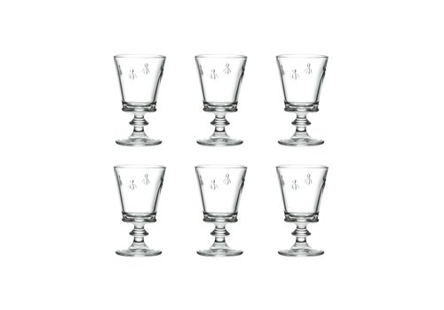 Kom Amsterdam Bistrot Set of 6 Wine Glasses High 24 cl 'Honey Bee'