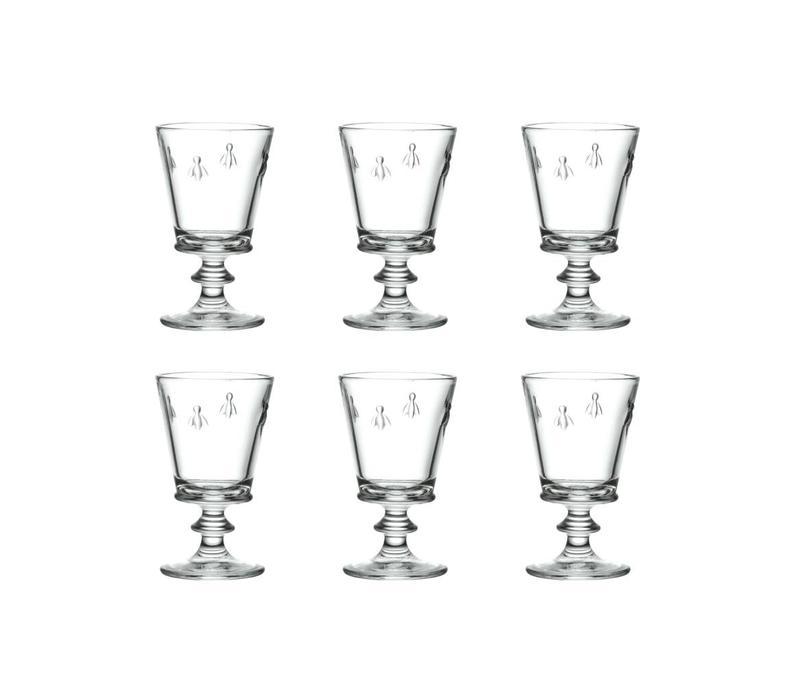 Rochère set of 6 wine glasses 24 cl Honey bee