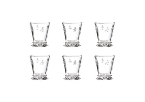 Kom Amsterdam Rochère set 6 water/tumbler glazen 27 cl Honingbij