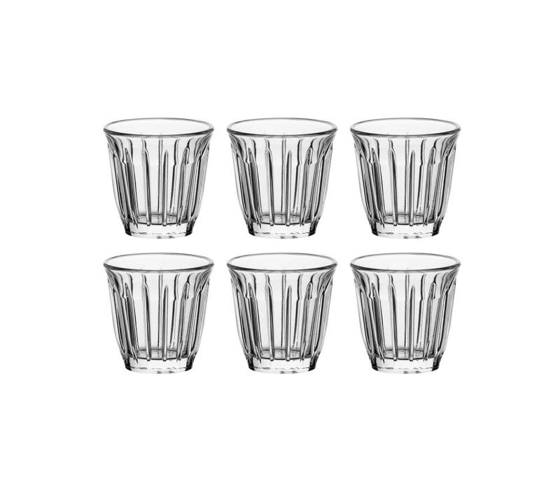 Rochère set of 6 espresso glasses 10 cl Zinc
