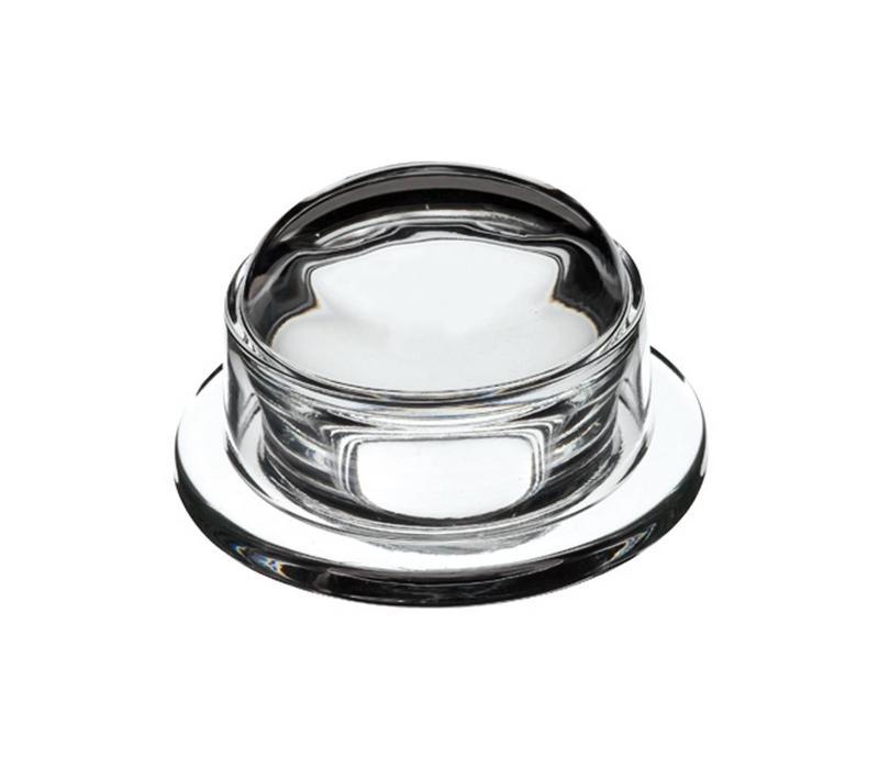 Glass butter dish ø9,5xH6 cm blank