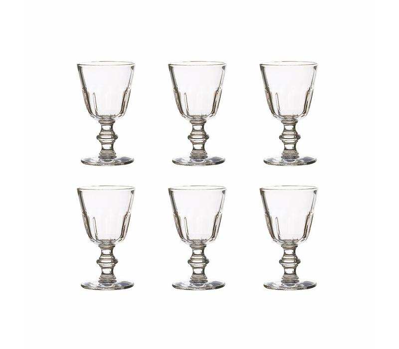 Bistro set of 6 water/wine glasses 22 cl perigord