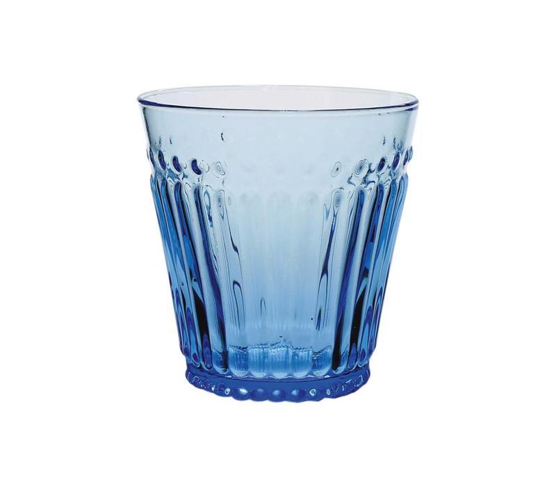 Kom Amsterdam water/tumbler glass 24 cl Aqua no.2 blue