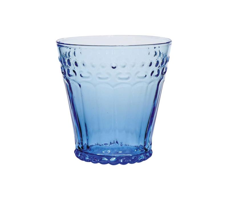 Kom Amsterdam water/tumbler glass 24 cl Aqua no.5 blue