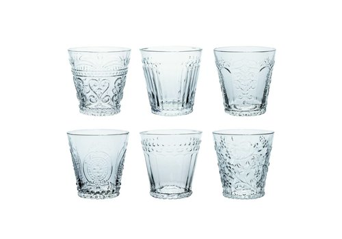 Kom Amsterdam Kom Amsterdam set 6 water/tumbler glasses 24 cl Aqua mix