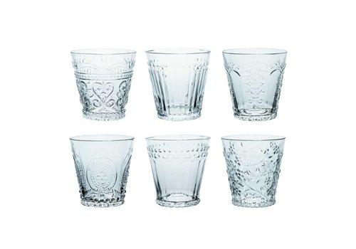 Kom Amsterdam Kom Amsterdam set 6 water/tumbler glazen 24 cl Aqua gemixt