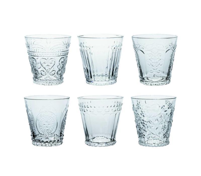 Kom Amsterdam set 6 Wasser/Tumbler Gläser 24 cl Aqua gemischt