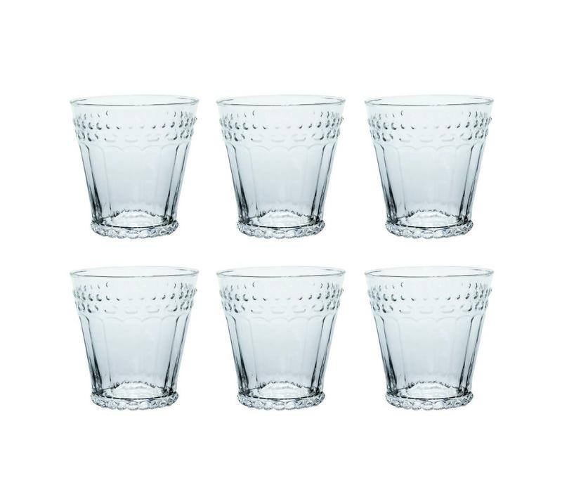 Kom Amsterdam set 6 Wasser/Tumbler Gläser 24 cl Aqua no.5