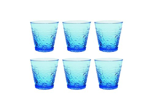 Kom Amsterdam Kom Amsterdam set 6 water/tumbler glasses 24 cl Aqua no.1 blue