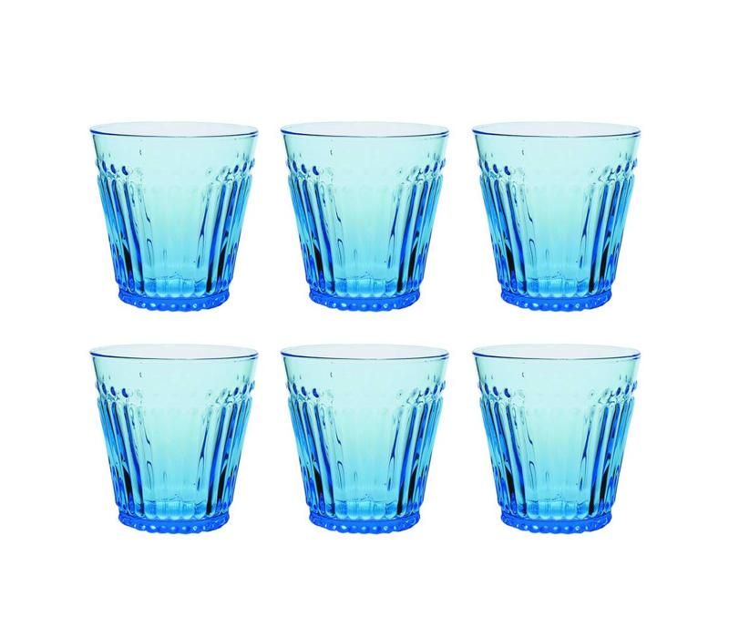 Kom Amsterdam set 6 water/tumbler glasses 24 cl Aqua no.2 blue