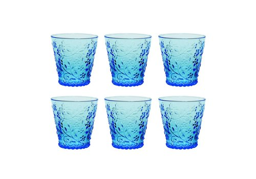 Kom Amsterdam Kom Amsterdam set 6 water/tumbler glazen 24 cl Aqua no.4 blauw