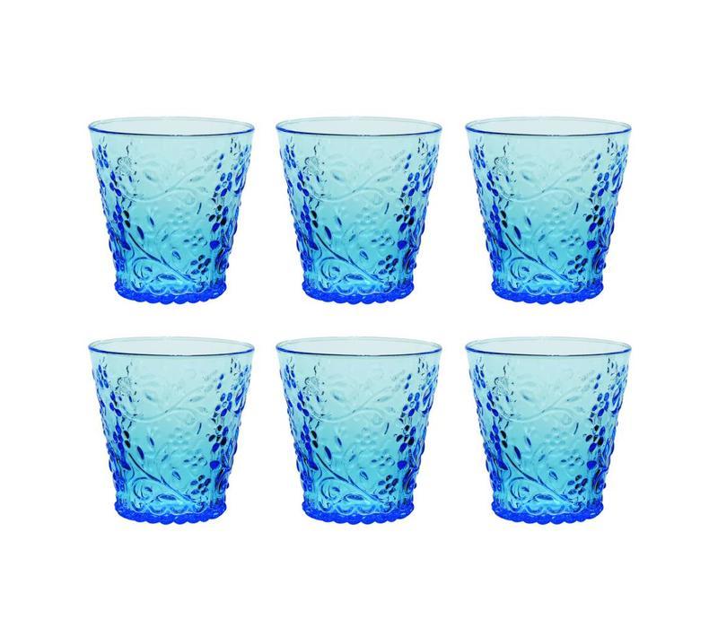 Kom Amsterdam set 6 water/tumbler glasses 24 cl Aqua no.4 blue