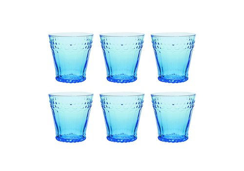 Kom Amsterdam Kom Amsterdam set 6 water/tumbler glasses 24 cl Aqua no.5 blue
