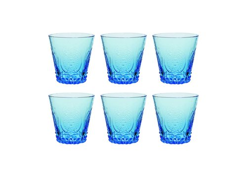 Kom Amsterdam Kom Amsterdam set 6 water/tumbler glazen 24 cl Aqua no.6 blauw