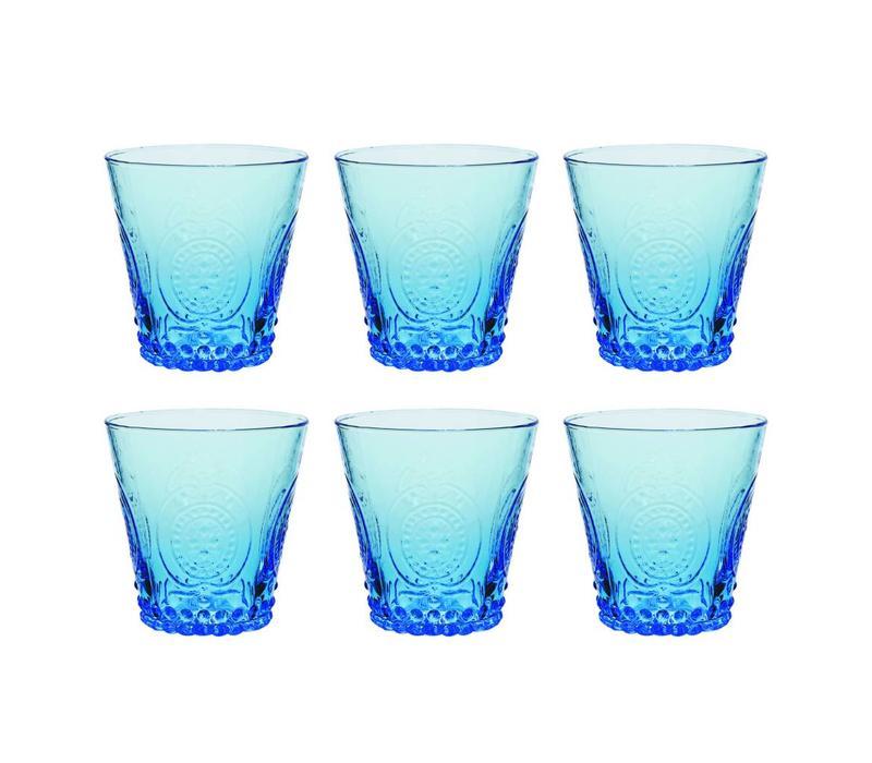 Kom Amsterdam set 6 water/tumbler glasses 24 cl Aqua no.6 blue