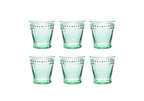 Kom Amsterdam Kom Amsterdam set 6 water/tumbler glasses 24 cl Aqua no.5 mint green