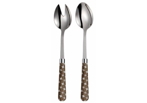 Campagne salad servers campagne country chic taupe