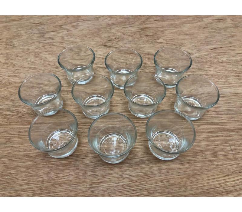10 Tealights glass