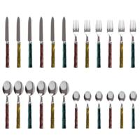 Bamboo 24 Piece Cutlery Set mixed colours