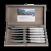 """Antique Wood 6 Steakmesser 2,0 mm  """"Birke"""" in einer Box"""