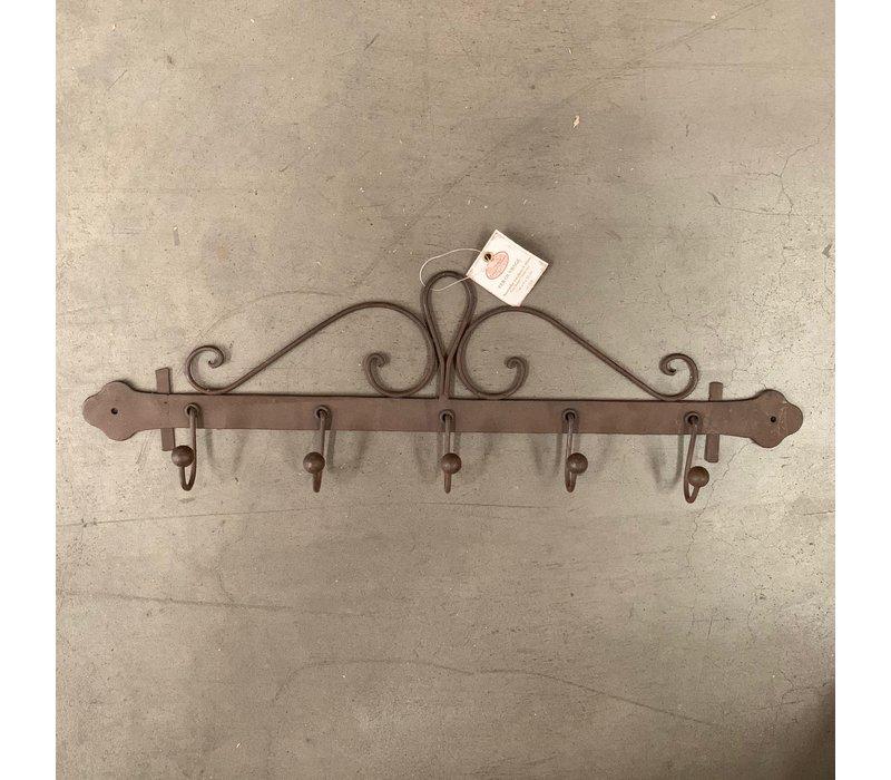 Comptoir de Famille tea towels rack brown iron