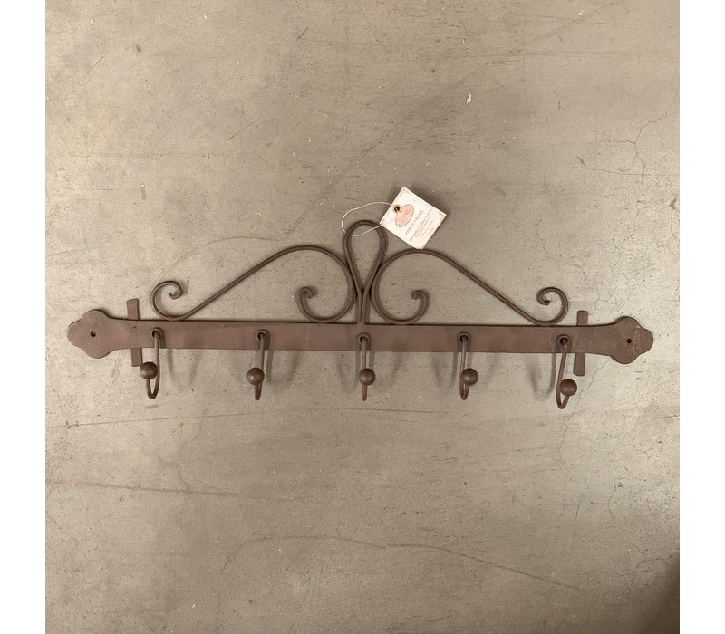Comptoir de Famille theedoekenrek bruin ijzer