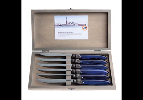 Murano Murano 6 Steak Knives in Box Blue