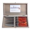 Murano Murano 6 Steak Knives in Box Brique Orange