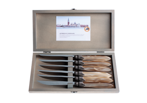 Murano Murano 6 Steak Knives in Box Champagne